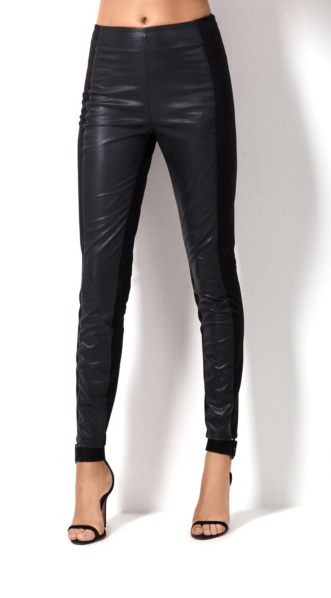 507a6cc8f Calca Legging Compose De Tecidos Preto - morenarosa