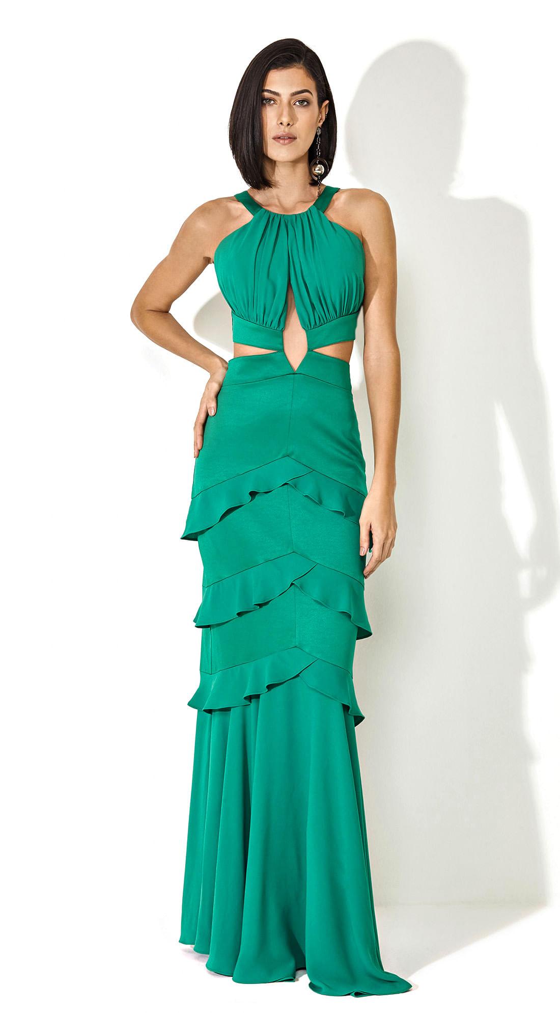 Vestido longo verde comprar