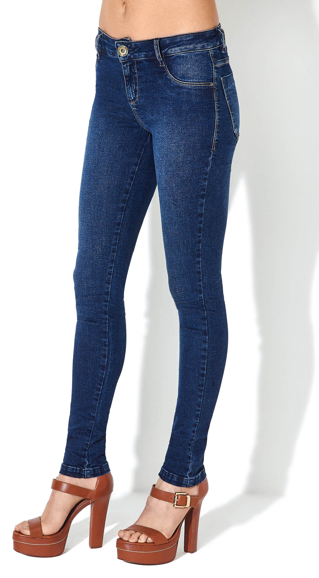 332cf66fe7 Calca Jeans Isabelli Cos Baixo Basica Jeans - morenarosa
