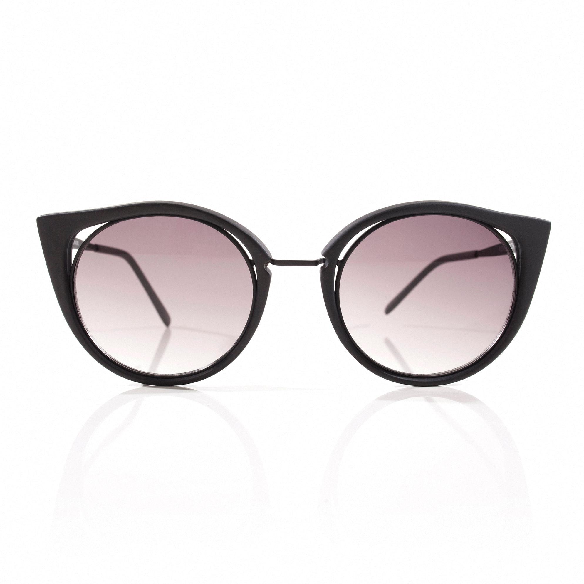 Oculos Gatinho Vazado Preto Fosco - morenarosa dba3bf72ab