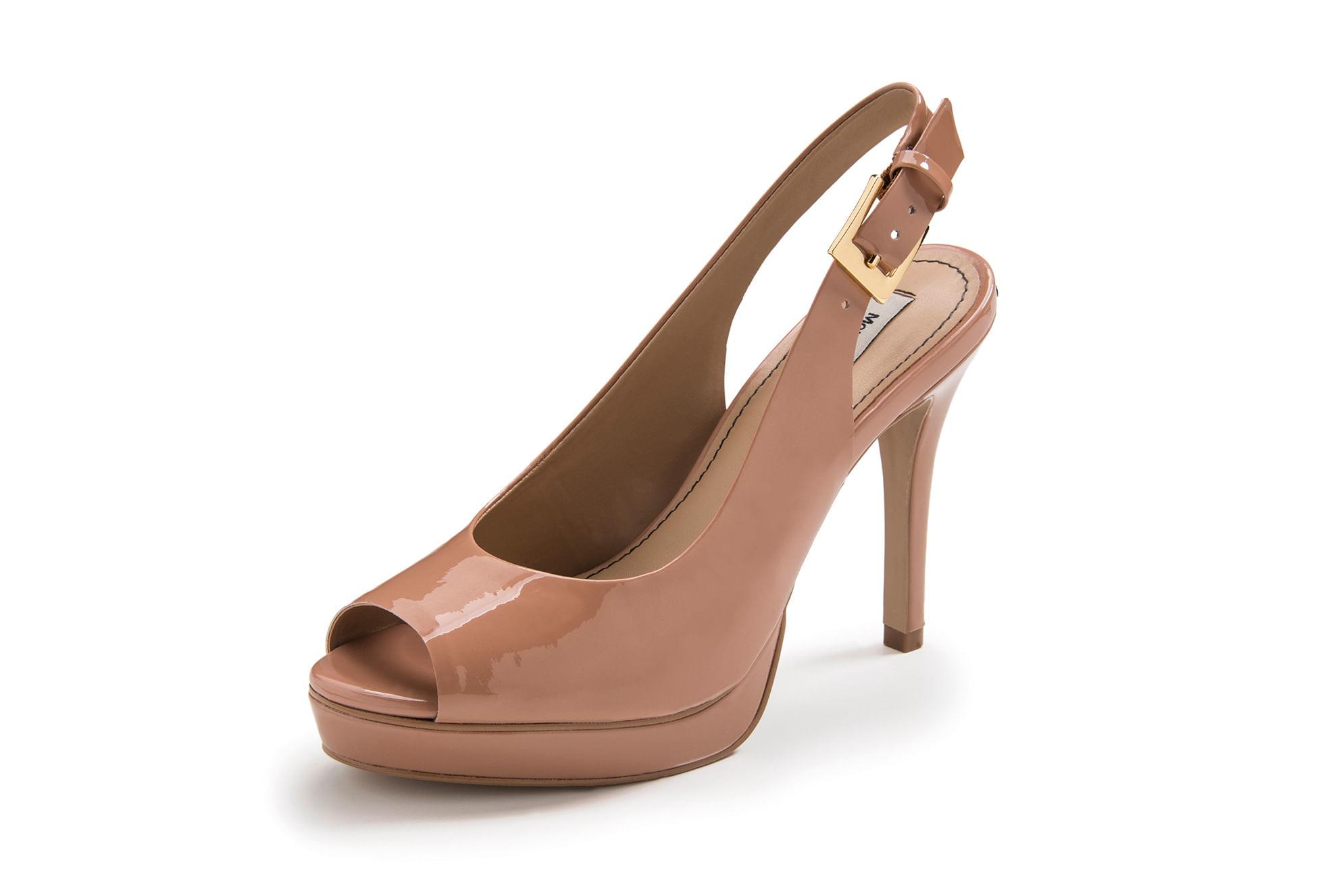 4964b2b983 morenarosa · Calçados · Sandálias · Sandalia Salto Alto Com Meia Pata Estilo  Chanel Nude
