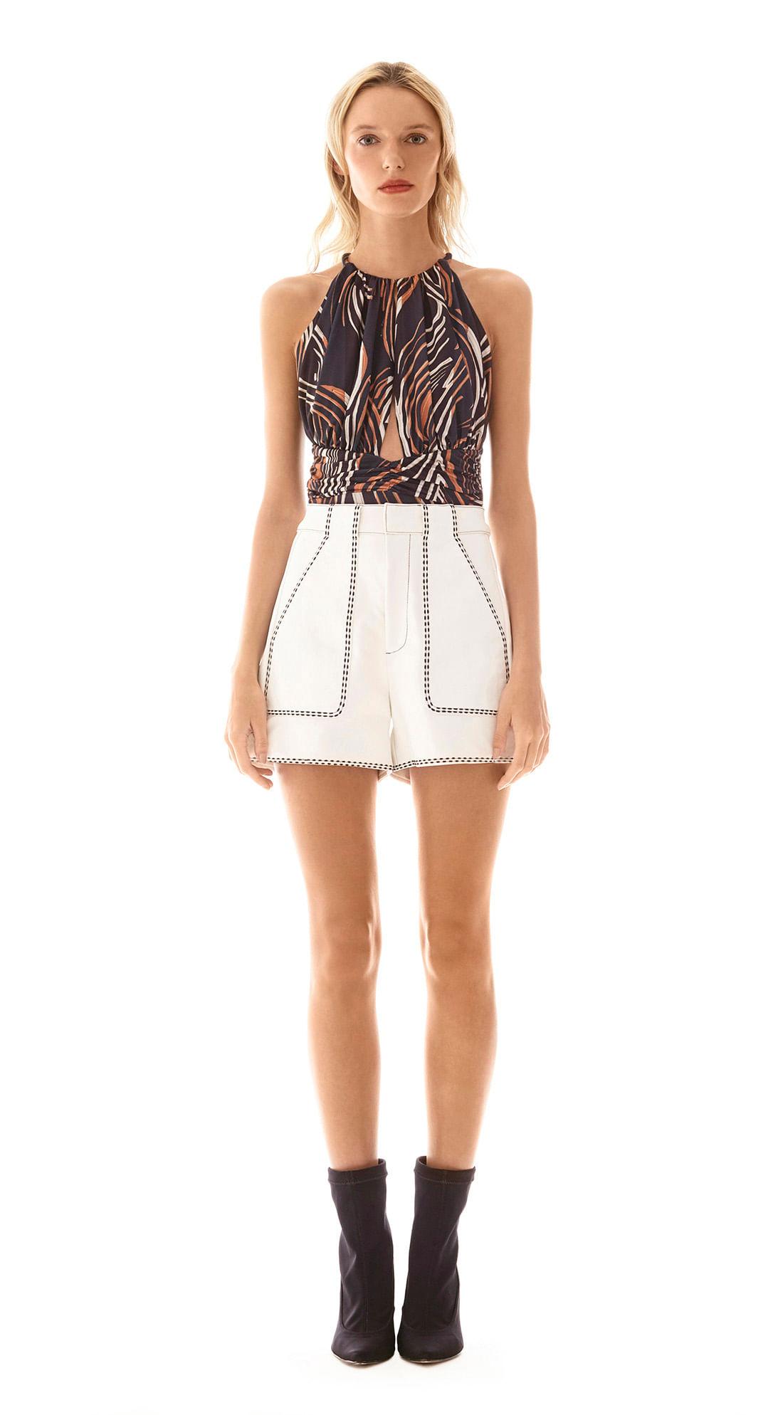 81694147d Shorts Alfaiataria Detalhe Pesponto Off White - morenarosa