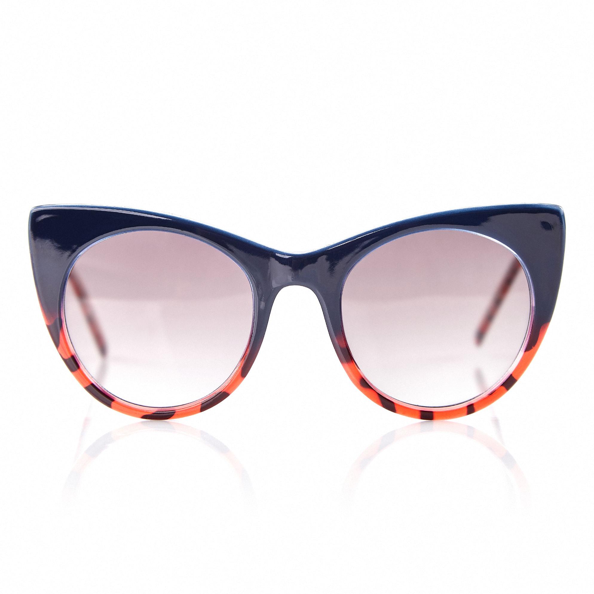 b562101cd0426 Oculos Gatinho Com Degrade Tartaruga Bordas Vermelho - morenarosa