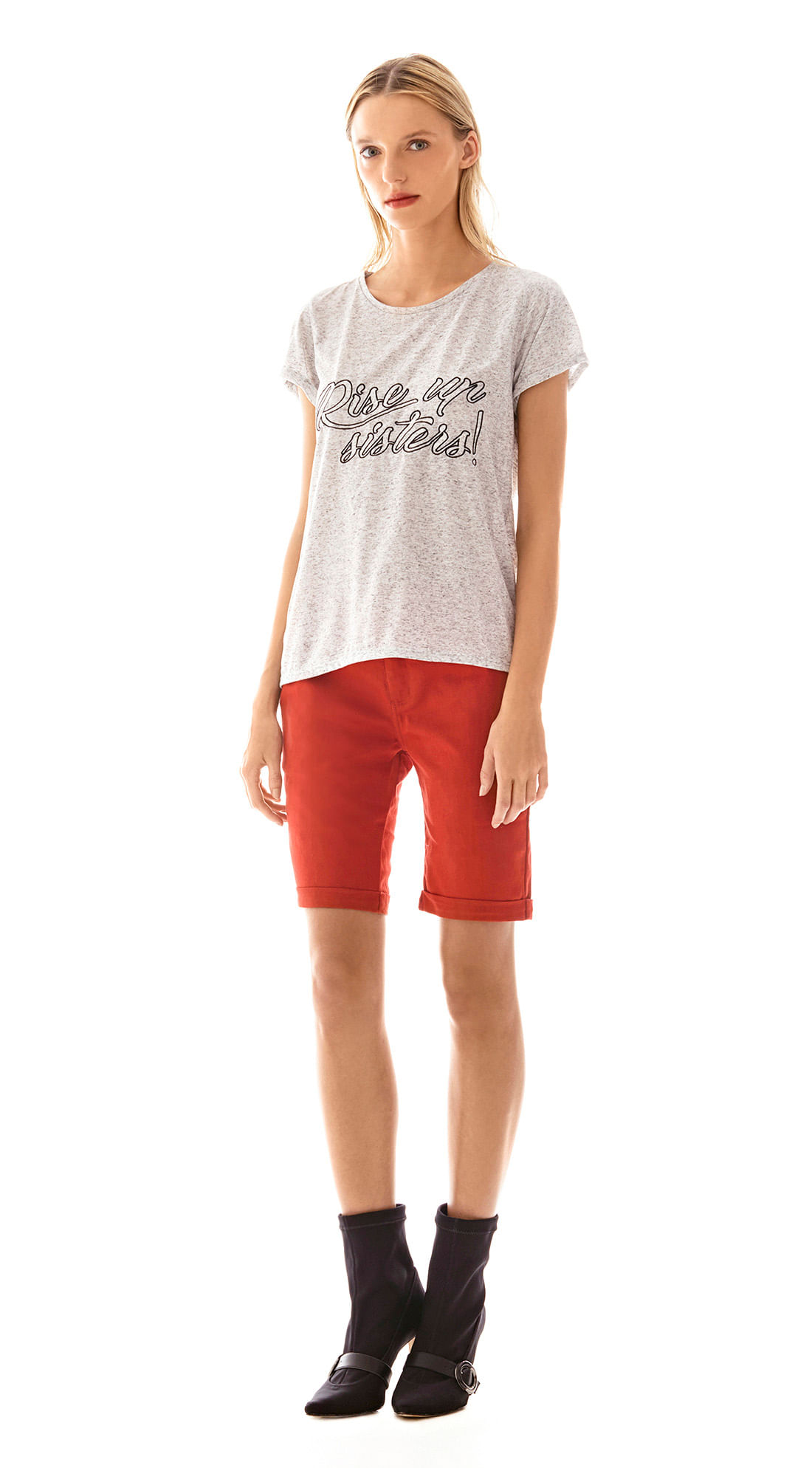 ba989975c0 T-Shirt Alongada Cinza - morenarosa