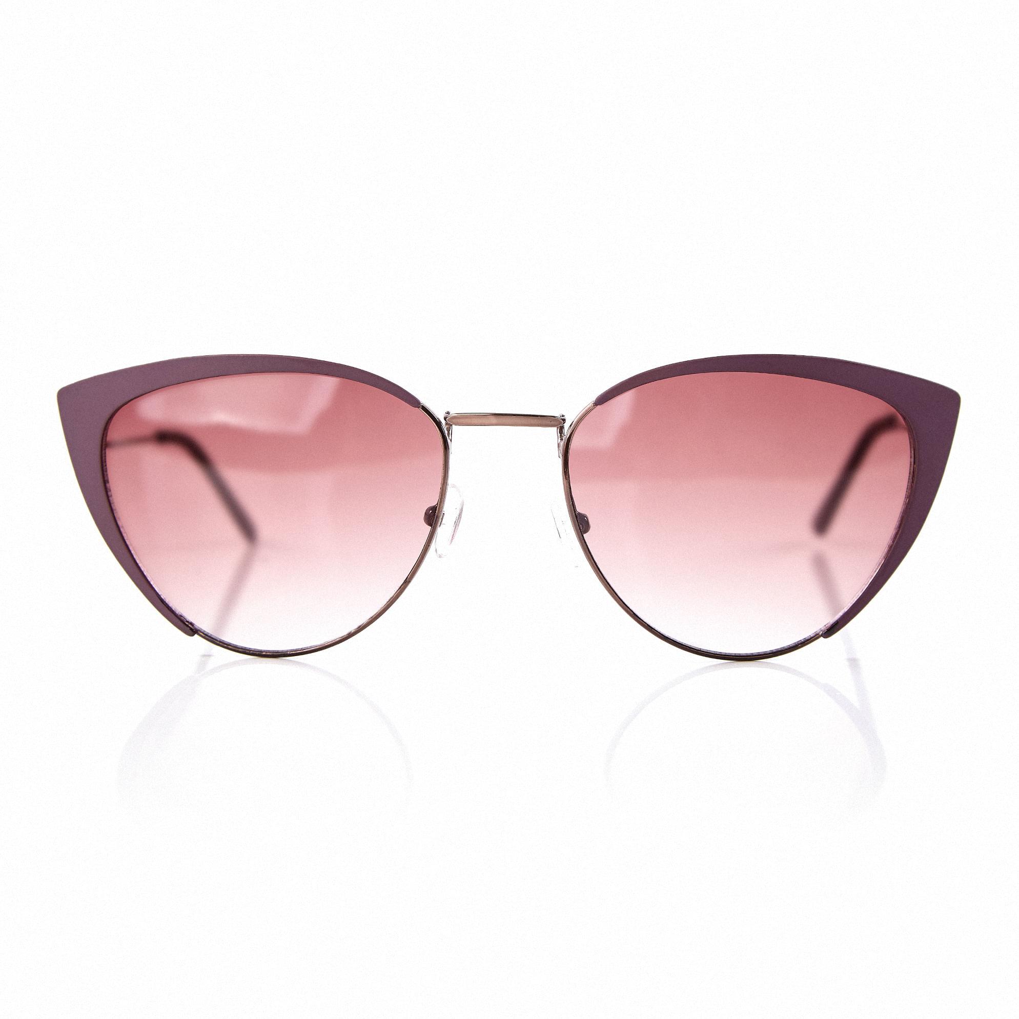 7c6e2d5ac8cd2 Oculos Gatinho Detalhe Metal Vermelho - morenarosa