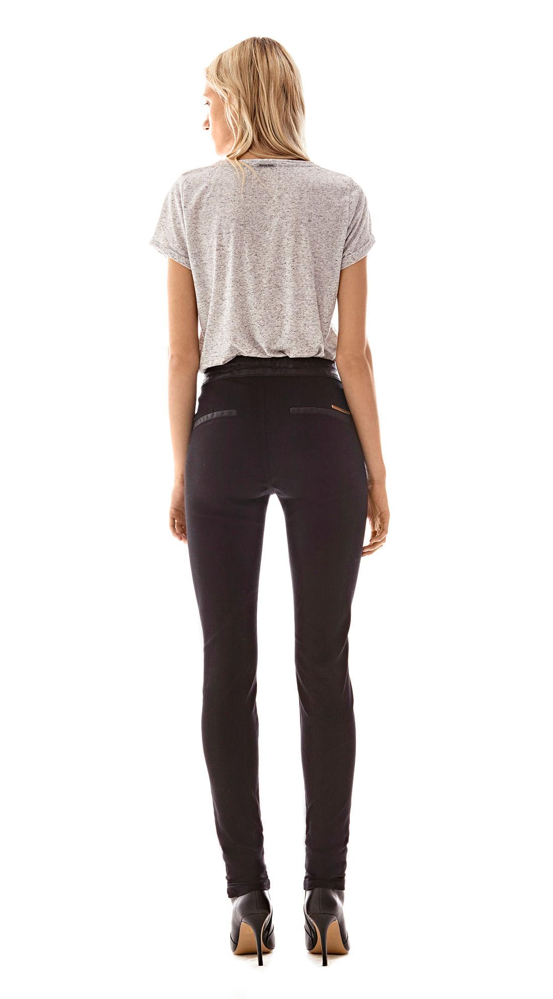 540ea17313 Calca Slim Isabelli Cos Alto Bolso Embutido Jeans - morenarosa