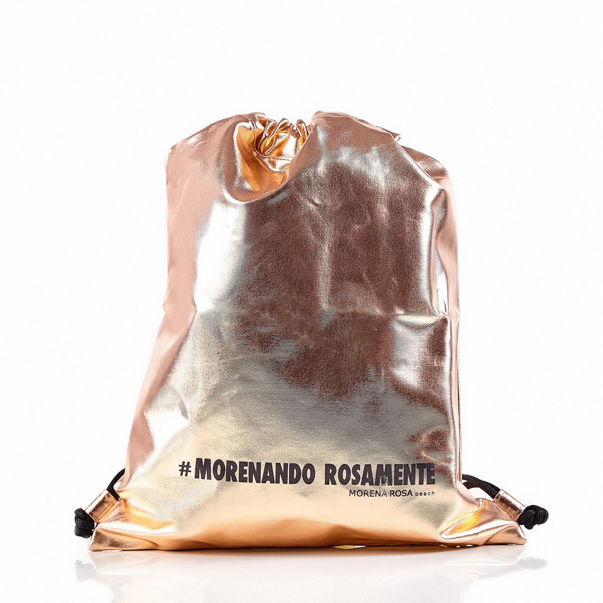 cbc7bc232 Bolsa Saco Metalizada Rosa - morenarosa