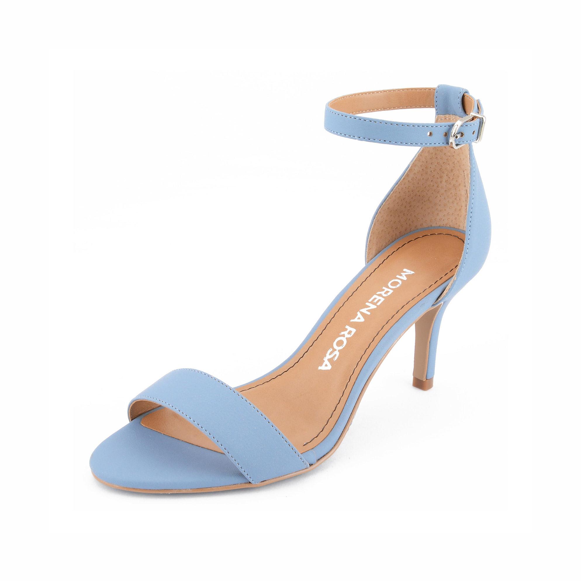 63f096a0ce Sandalia Salto Medio Lisa Azul - morenarosa
