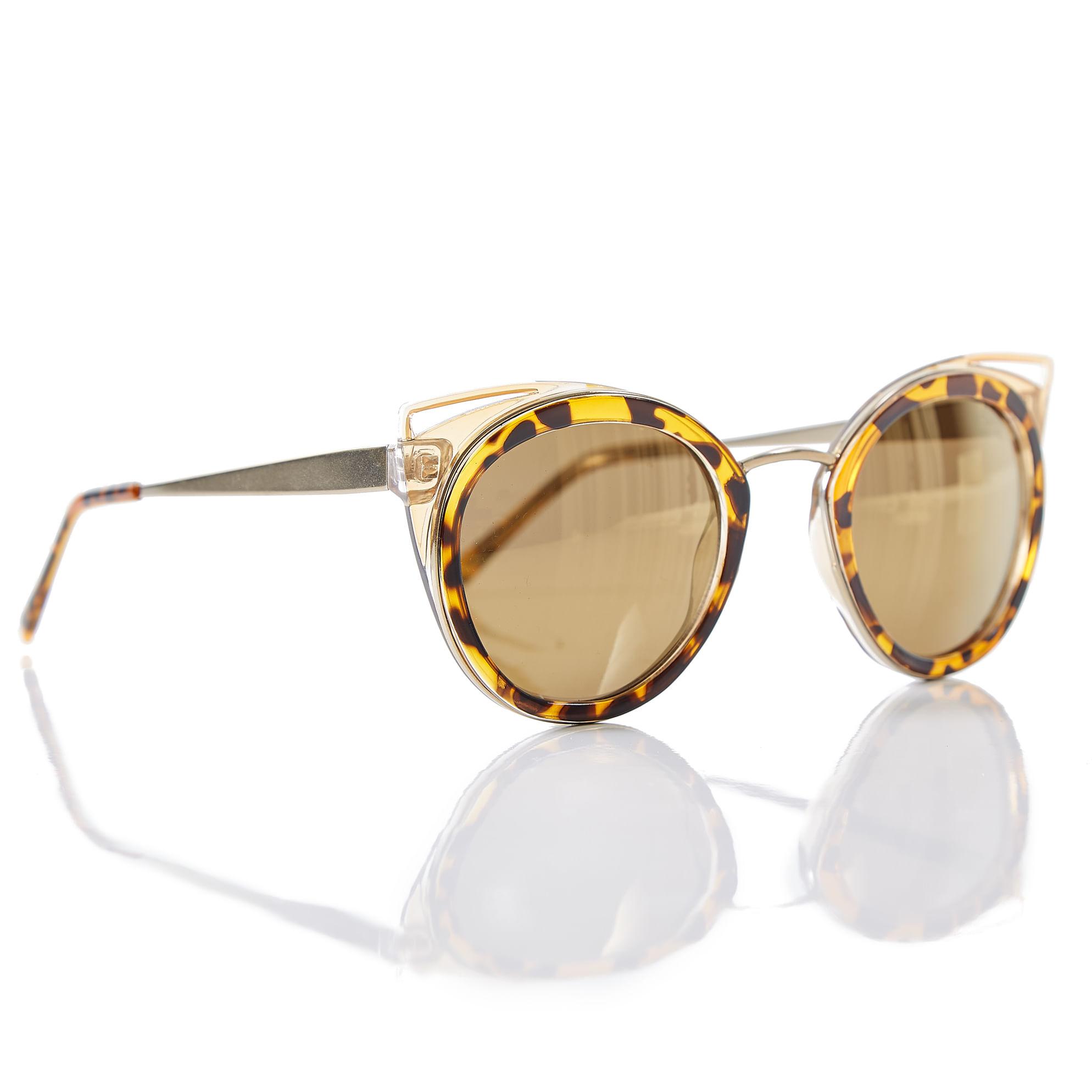 Oculos Gatinho Lateral Vazada Marrom - morenarosa 87fe2cff7b