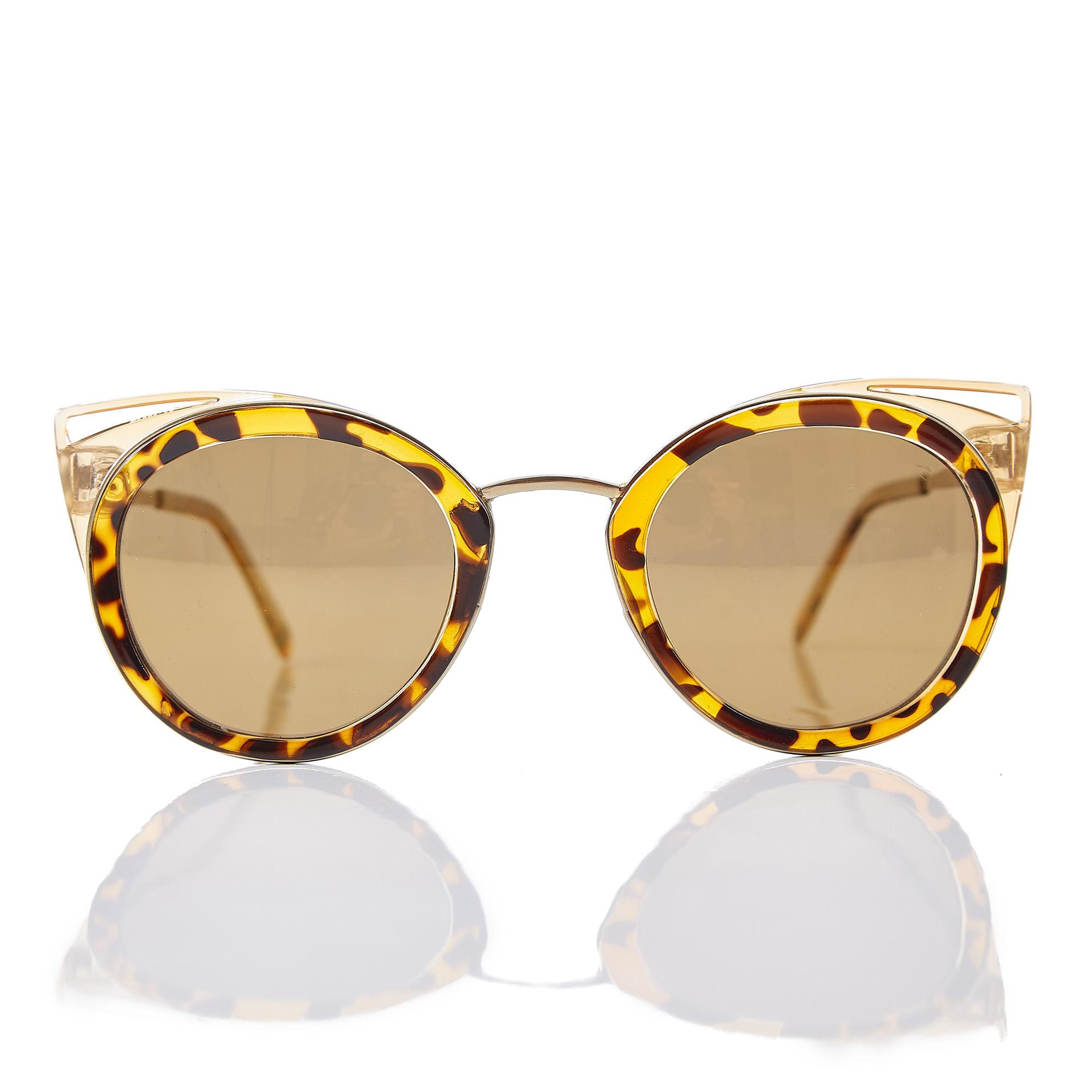 22af2c412e162 Oculos Gatinho Lateral Vazada Marrom - morenarosa