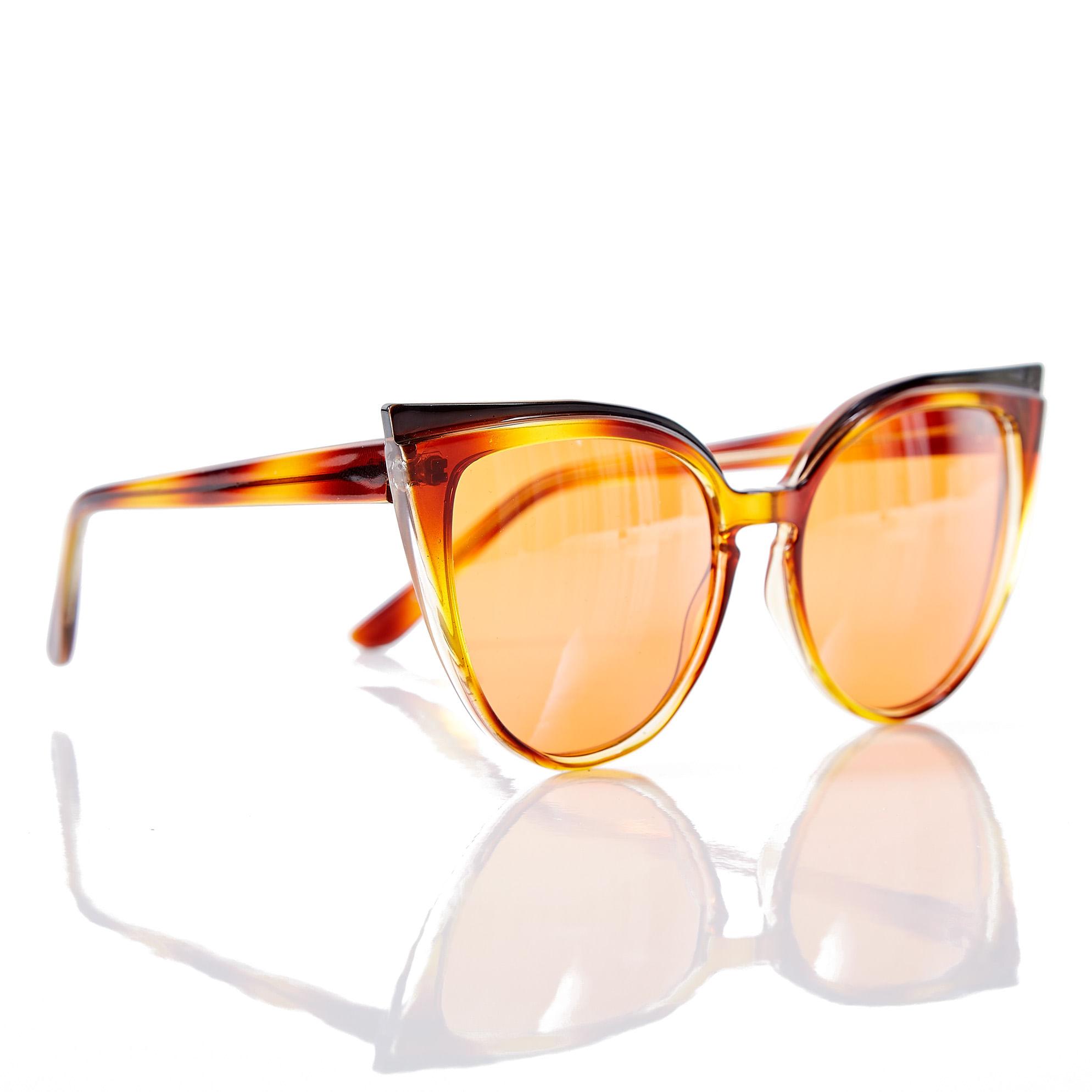 7874a25b65628 Oculos Max Gatinho Degrade Laranja Marrom - morenarosa