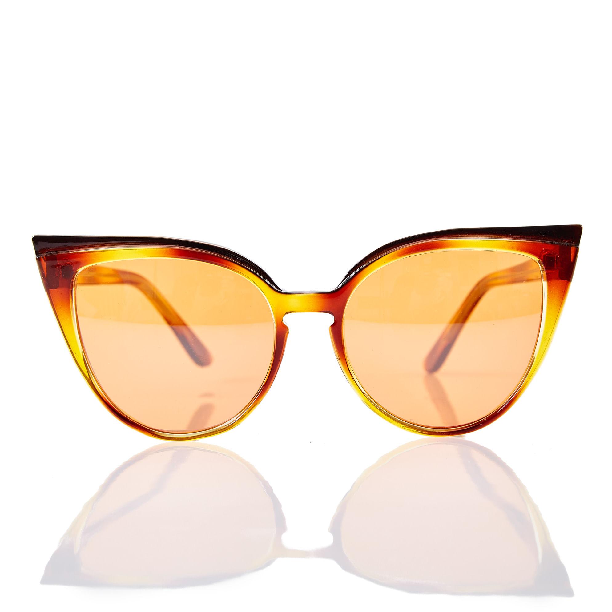 a7ff45264ea20 morenarosa · Acessórios · Óculos · Oculos Max Gatinho Degrade  Laranja Marrom - TU