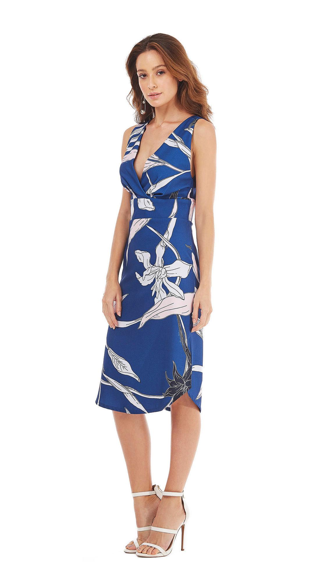 f734bc1be0 Vestido Curto Decote V Minha Morena Azul - morenarosa