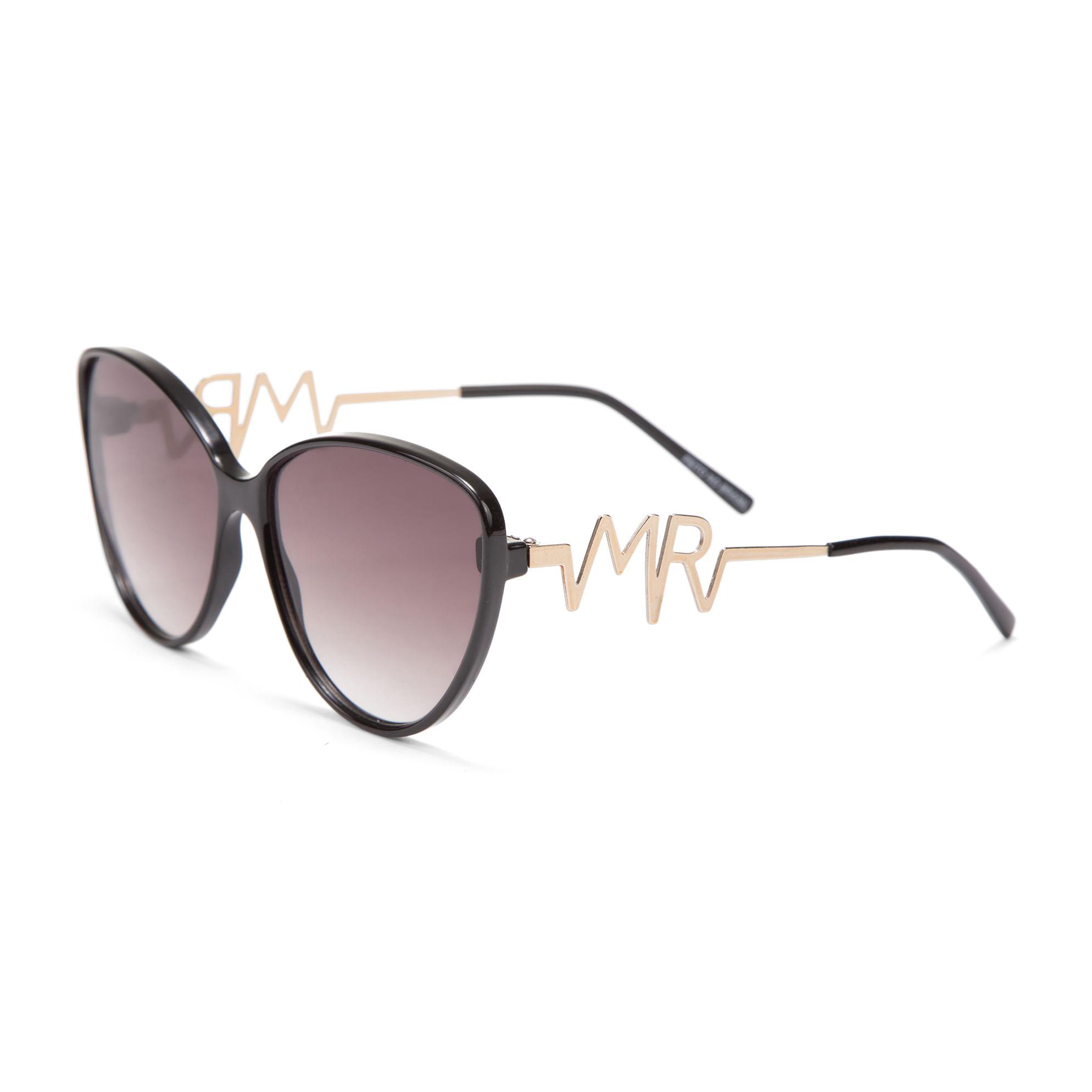 e2a1f6e0d14f8 Oculos Gatinho Haste Metal Personalizada Preto - morenarosa