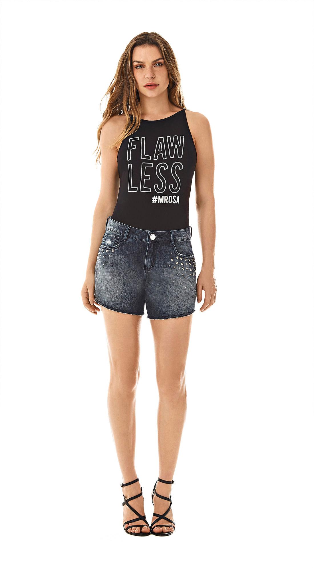 c6ab10ec9 Bermuda Comfort Detalhe Tachas Jeans - morenarosa