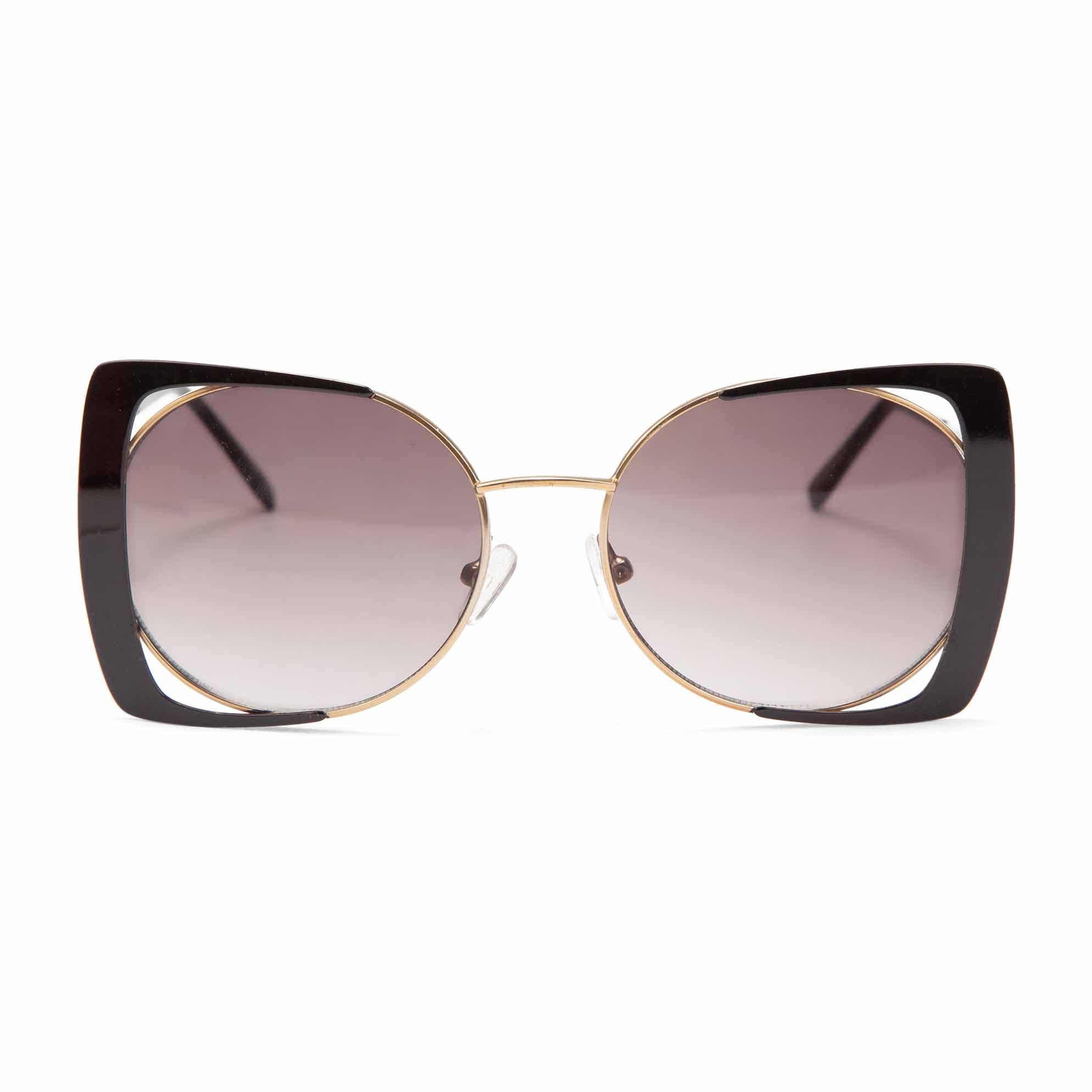 cefe7d4ba54b3 Oculos Butterfly Armacao Vazada Preto - morenarosa