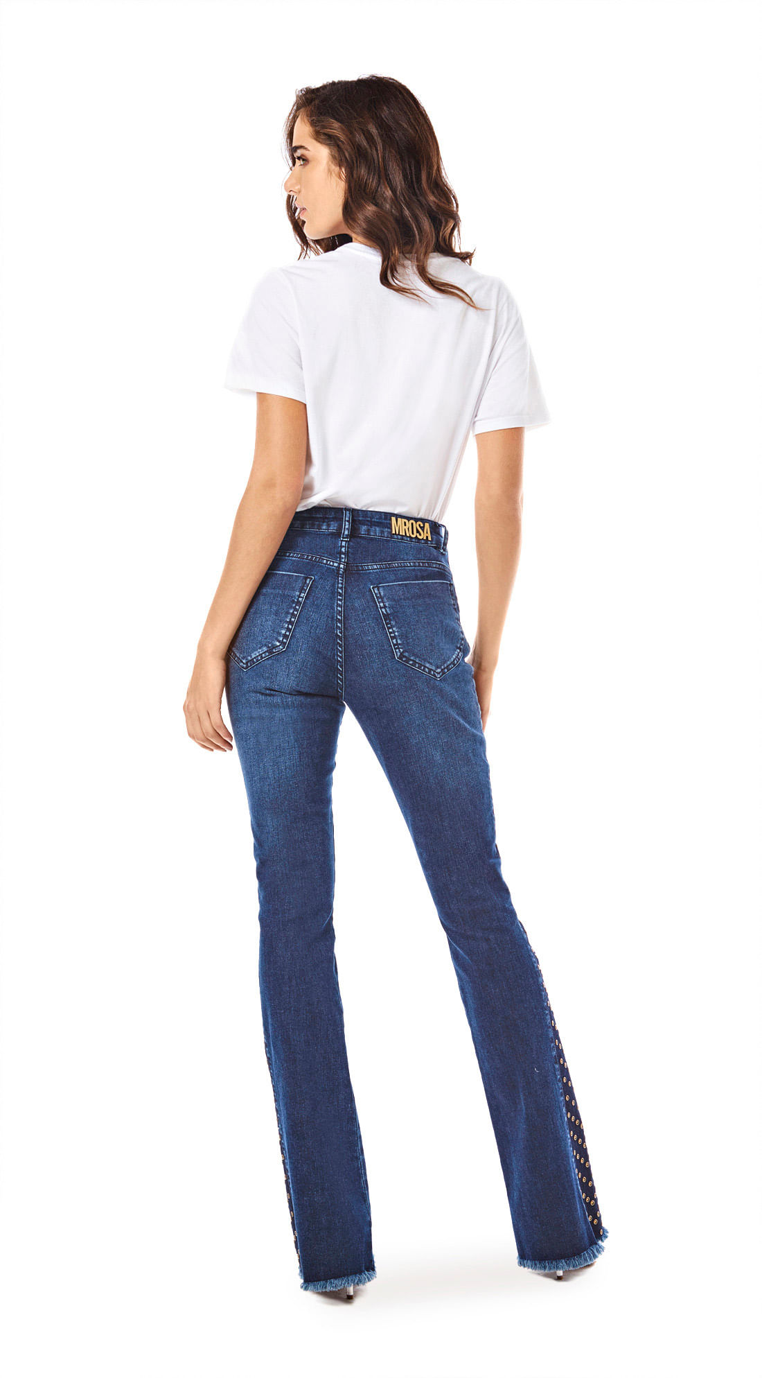 ed21d7f0f Calca Boot Cut Carol Cos Intermediario Com Termocolante Jeans ...