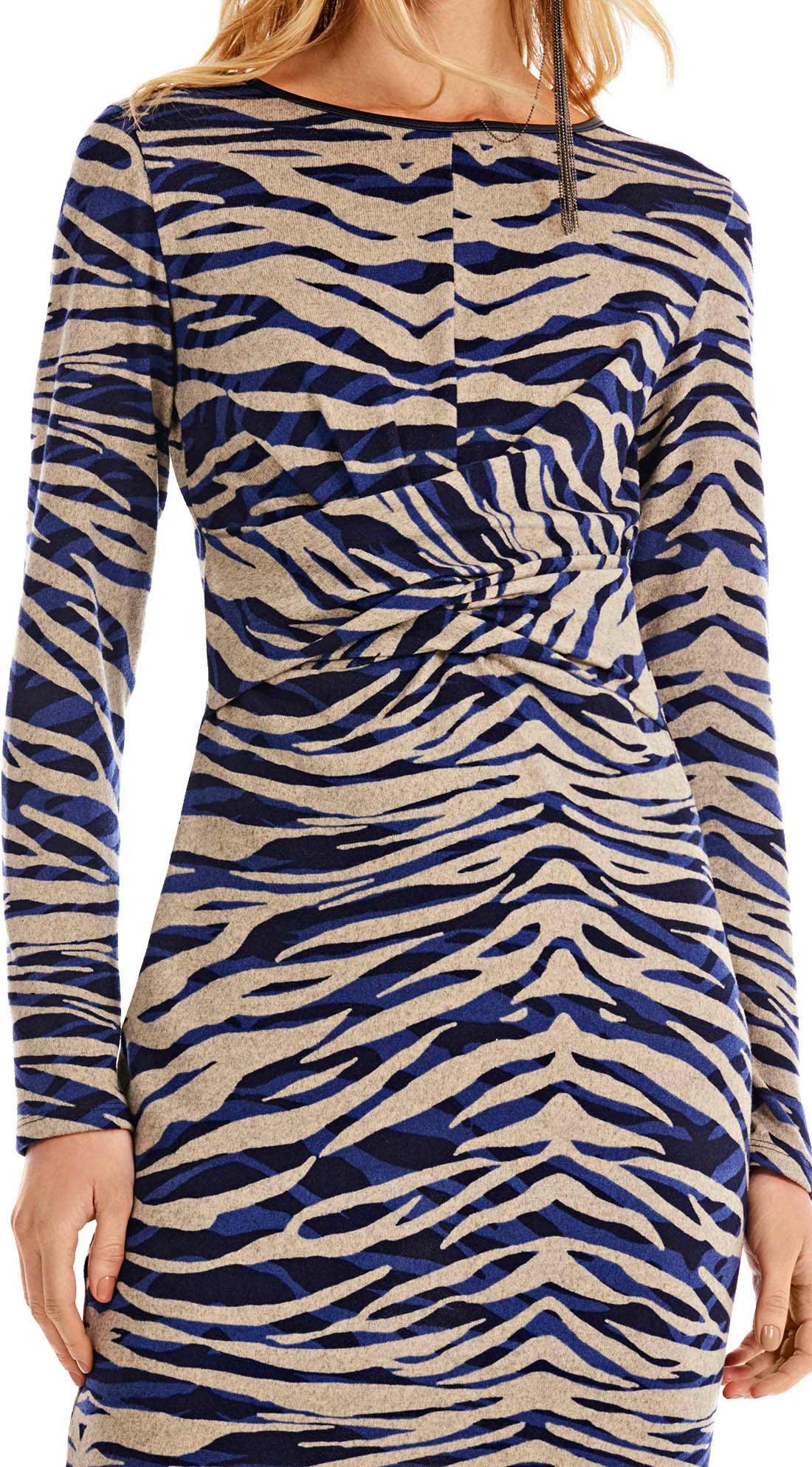 1edee601af Vestido Curto Decote Redondo Torcao Frente Azul - morenarosa