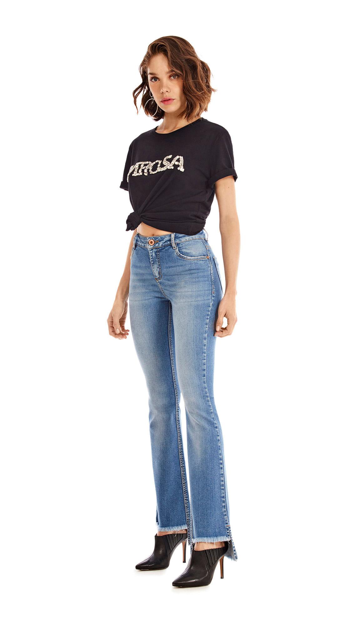 a693ed2d0 Calca Boot Cut Carol Cos Intermediario Media Jeans - morenarosa